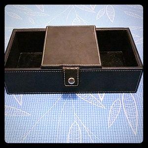 Leather, organizer box